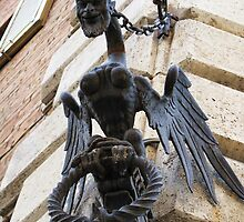 Medieval winged devilsh creature - Siena, Italy by creativetravler