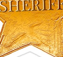 Rusty Sheriff's Badge Sticker