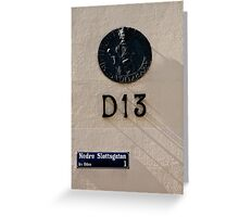 Numbers and Shadows Greeting Card