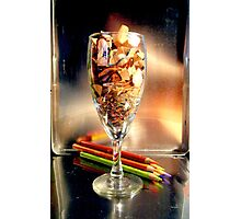 Champagne and Pencils Photographic Print