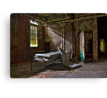 Old Hospital Bed Canvas Print