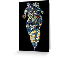 Hippy Chick Greeting Card