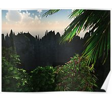 """Planet """"Gloss""""02: Island Rim (Collaboration with Owlspook) Poster"""