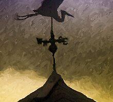 Weathervane I  /  Heron  /  South Carolina by Shelley  Stockton Wynn
