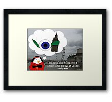 Waddles London Eye Framed Print