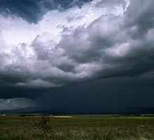 Storm over Mt Buller Howqua Valley 198710240009 by Fred Mitchell