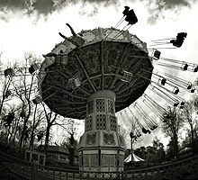 Merry-go-round through the fisheye lens by PhotomasWorld