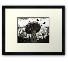 Merry-go-round through the fisheye lens Framed Print