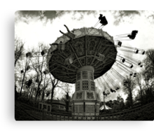 Merry-go-round through the fisheye lens Canvas Print