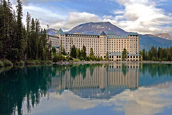 THE CHATEAU AT LAKE LOUISE, ROCKY MTS, CANADA by Raoul Madden