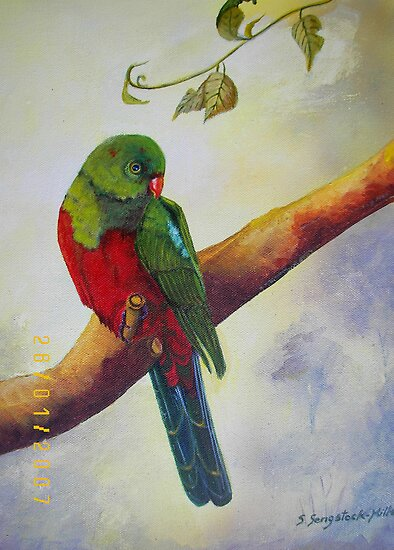 Out on a Limb..........Baby king Parrot by Sandra  Sengstock-Miller