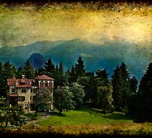 Landscape with country house by Roberto Pagani