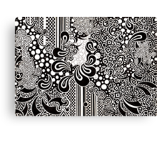 Black Paisley Canvas Print