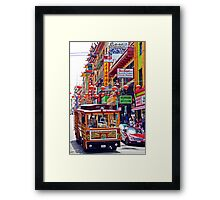 Chinatown Streetcar Framed Print