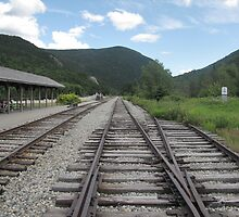 The Tracks at the Crawford Notch Depot by maxy