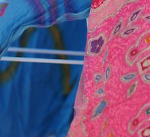 Sarongs on the Line by Caroline Angell