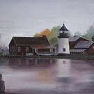 Mystic Harbor, Connecticut by Rich Summers