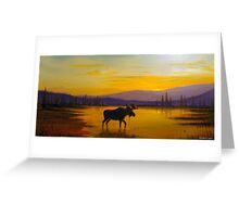 Golden Serenity Greeting Card