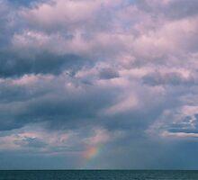 rainbow sea view by Juilee  Pryor