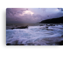 Wet Winter Wonderland,Big Hill,Great Ocean Road. Canvas Print