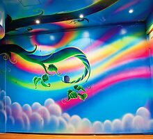 Rainbow Room mural by vinn