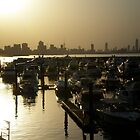 Sun setting across Kuwait  by Dana Kay