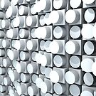 Wall of Cylinders 2.0 by Chris Bigelow