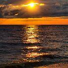 streaked sunset by Cheryl Dunning
