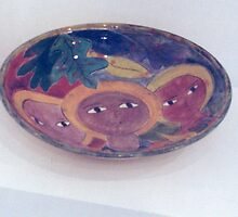 Large pottery waterbowl by catherine walker