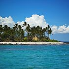 Paradise beach and white clouds by LeGreg