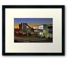 Hanson Concrete Plant - East Perth  Framed Print