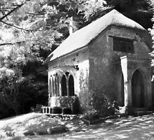 Stourhead. Gothic Cottage (Infrared) by Paul Woloschuk