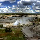 Yellowstone Geyser Basin by Terence Russell