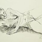 Kristina reclining 2 by Johnathan Felton