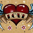 Tattoo Heart with Wings by tattoofreak