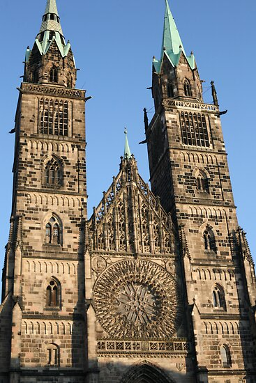 Beautiful church towers in Germany by tbailey1