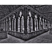 A corner of the cloisters, St Tugdual Cathedral, Tregier, Brittany, France Photographic Print