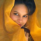 A SHY GIRL WITH YELLOW DRAPE by RakeshSyal