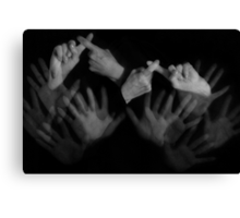 Computer Friends in Sign Language (read on) Canvas Print