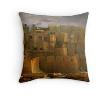 Lone Woman of Jaisalmer Throw Pillow