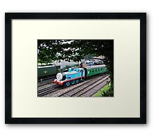 Thomas Leaves the Station  Framed Print