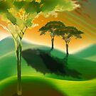 Lanscape with Trees by Carolyn Venditto
