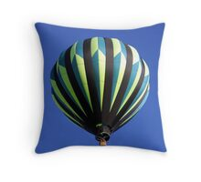 Green Balloon & Blue Sky (as-is) Throw Pillow