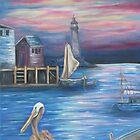 Pelican Port by Mikki Alhart