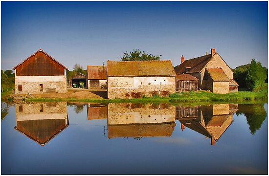 Reflected Farm by Adri  Padmos
