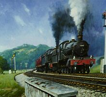 Storming Dainton bank. by Mike Jeffries