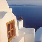 A View of the Caldera in Santorini, Greece by Yuri Lev
