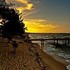 Last light on the beach by Karel Kuran