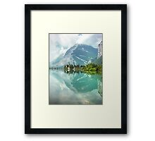 Castle and Lake of Toblino Framed Print