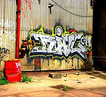 Powerstation graffiti by Jouer